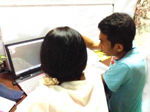プログラミングの授業の様子