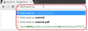 Google CromeのOmniboxの表示例の画像。