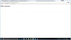 cssで文字サイズや色を指定する前のホームページ画面