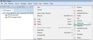 新しいHTMLファイルを追加する画面の画像