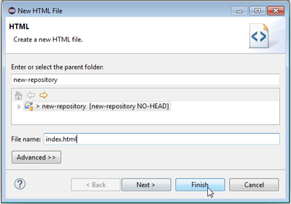 新しいHTMLファイル追加画面の画像