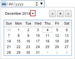 コンタクトフォームの日付選択画面