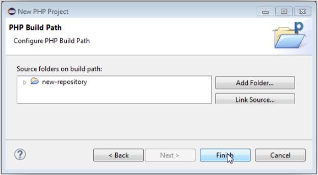 PHP Build Path設定画面の画像