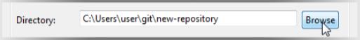ディレクトリを変更する画面