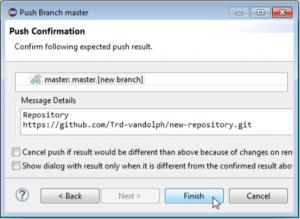 Push Confirmation画面の画像