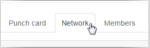 Networkをクリックしている画像