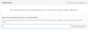 Collaboratorsを追加する画面