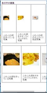 表のセル内のサイズ指定して、画像サイズを50%で指定し、スマホサイズでみた画面。
